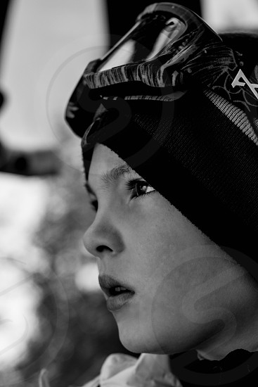 Ski snowboarding ski goggles gondola snow sports photo