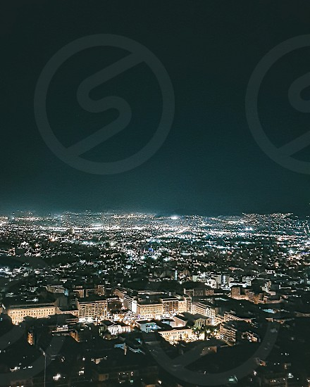 #athens #greece #night #urban #city #lights photo