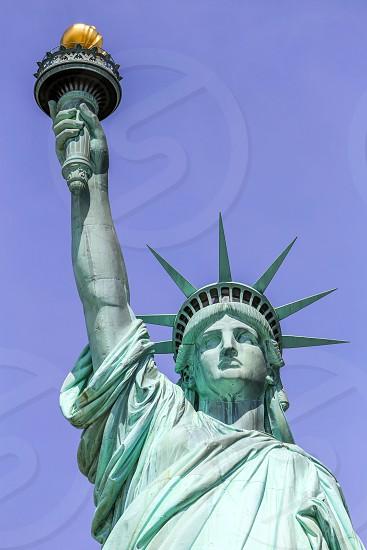New York Liberty Island. Die Freiheitsstatue. photo