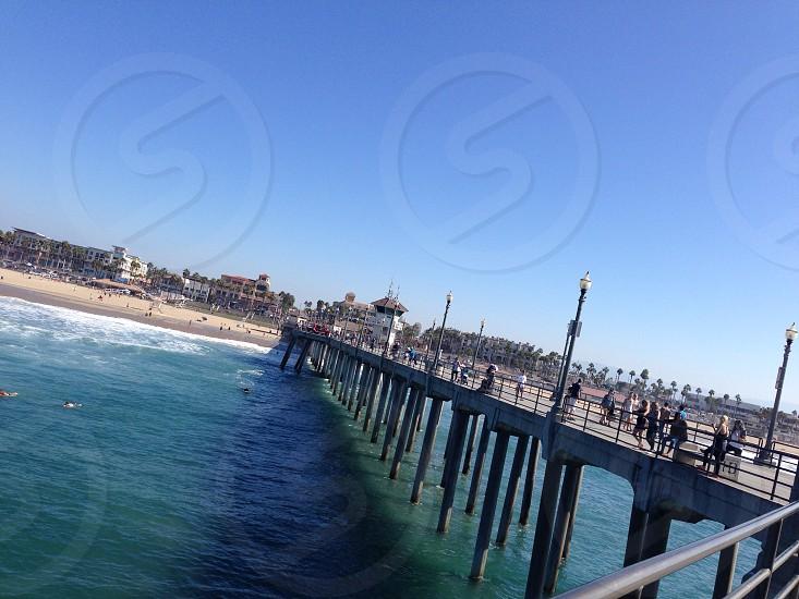 Pacific Ocean beach boardwalk west coast travel summer spring break  photo