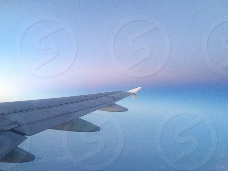 Flying along side sunrise  photo