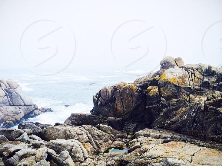 ocean boulders photo