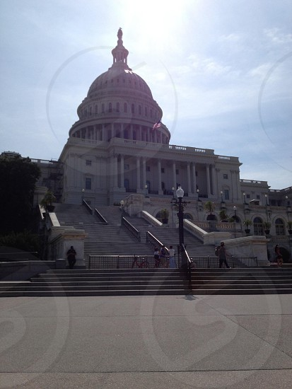 This is Washington DC its a picture of the capital in DC    photo