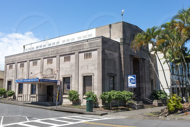 The exterior of the Pacific Tsunami Museum in Hilo Hawaii photo
