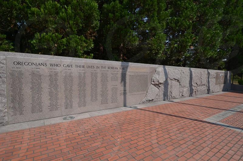 City of Wilsonville Oregon Korean Memorial  photo