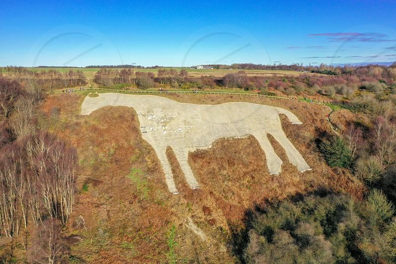 Yorkshire Kilburn White horse shot from above photo