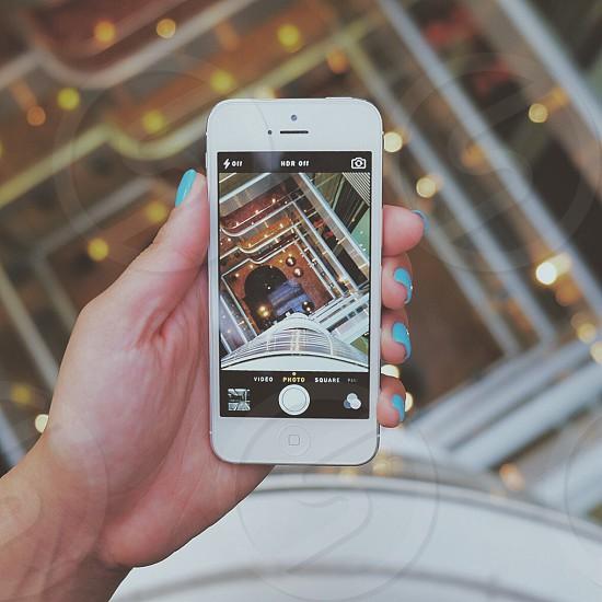 white iphone photo