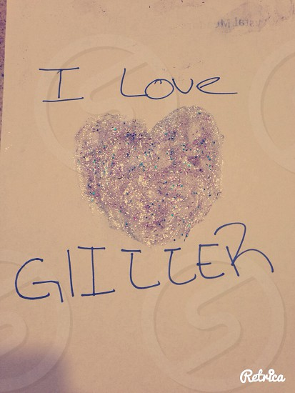 I love glitter so much I came up with the idea to this. LETS HOPE I GET NOMINATED👍👍  photo