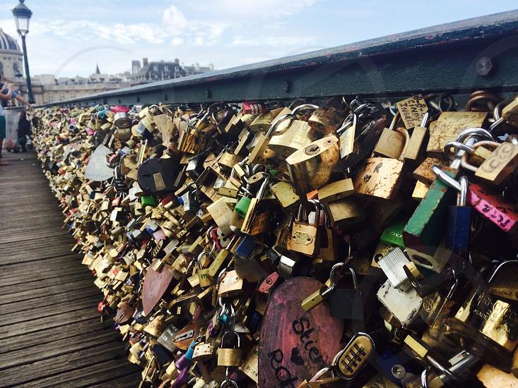 love padlocks in paris photo