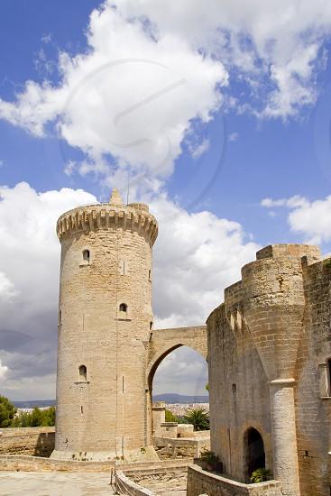 Bellver Castle Castillo tower in Majorca at Palma de Mallorca Balearic Islands photo