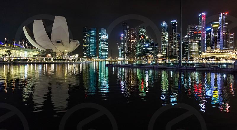 Night-time view of Singapore photo