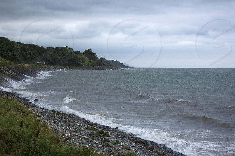 Antrim Coast Road Northern Ireland Irish Sea Autumn photo