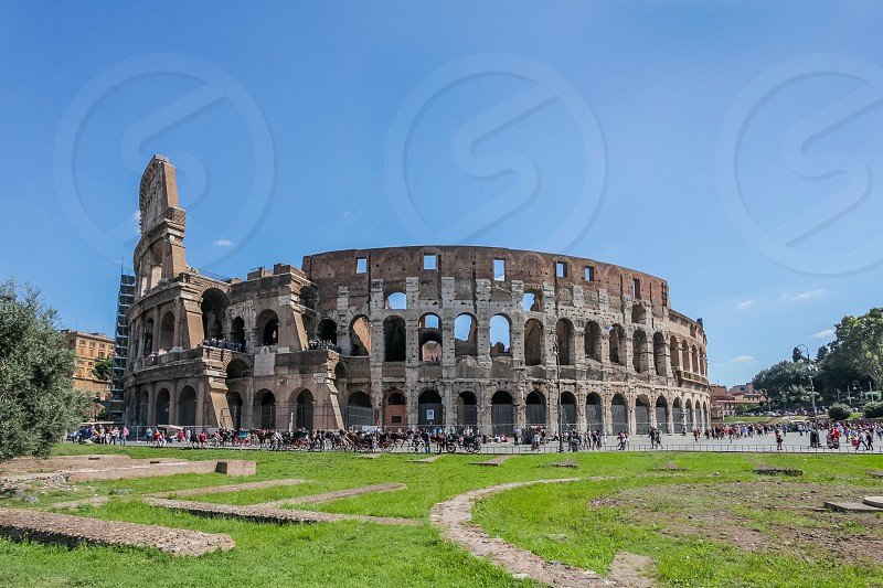 Colosseum in Rome Italy. vocation honeymoon building coliseum Rome  photo