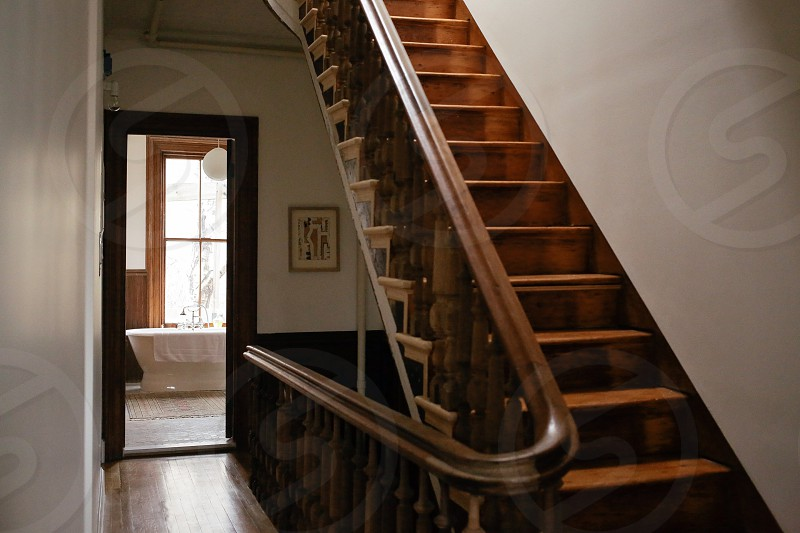 brown stairs photo