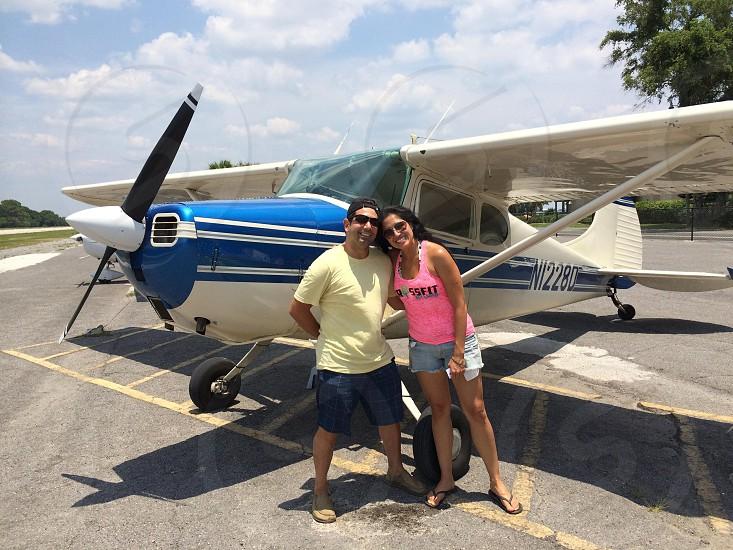 Taking a plane tour photo