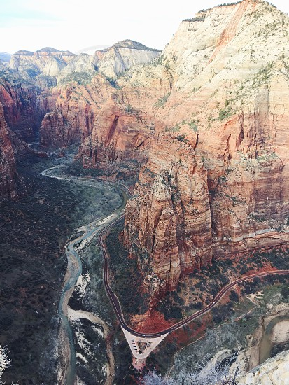 Zion National Park Travel Road Trip Mountains Angels Landing Hike Big Bend photo