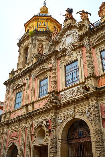 San Luis church facade in Seville of Spain at Macarena Sevilla photo