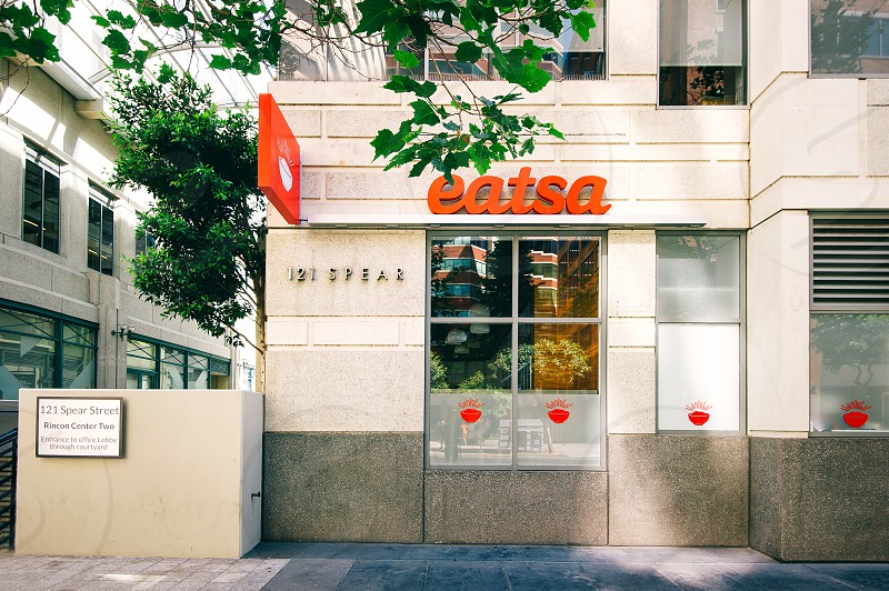 eatsa restaurant on the side of the road photo