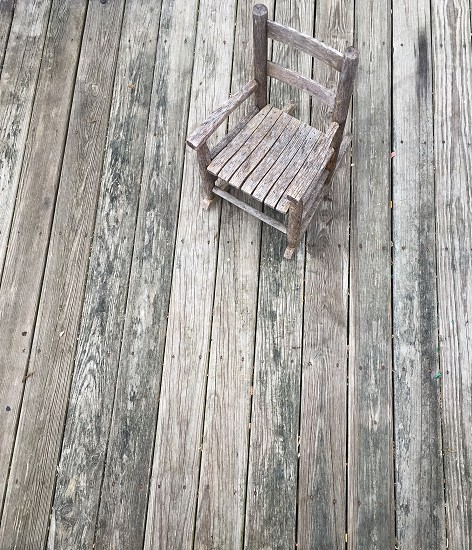 Porch wooden rocking chair photo