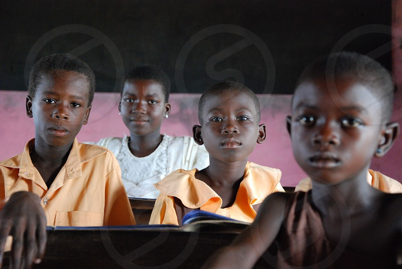 Students in Ghana Africa  photo