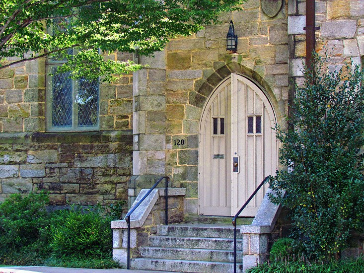 Enter Here - Old church in downtown Raleigh North Carolina photo