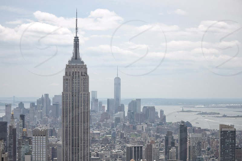 the empire state building and new york city photo