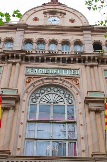 Gran Teatre del Liceu exterior. Barcelona. photo