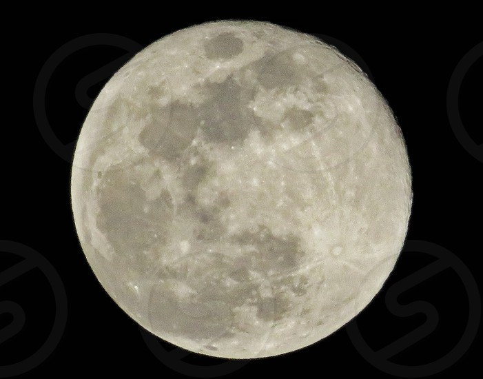 full moon in the night scape photo
