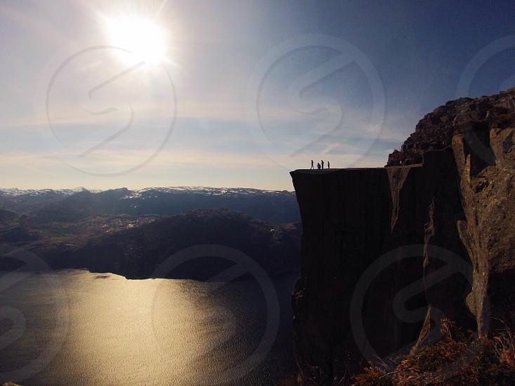 Pulpit Rock Norway Preikestolen Lysefjord Fjord photo