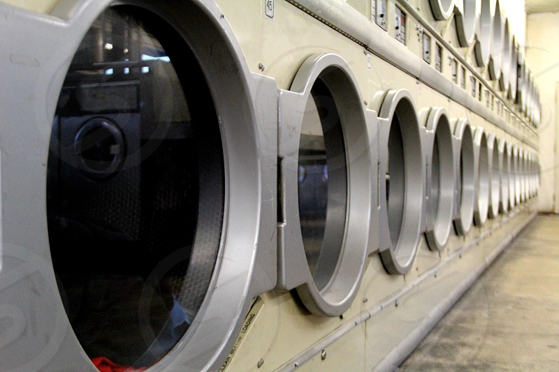 Laundry mat dryers photo