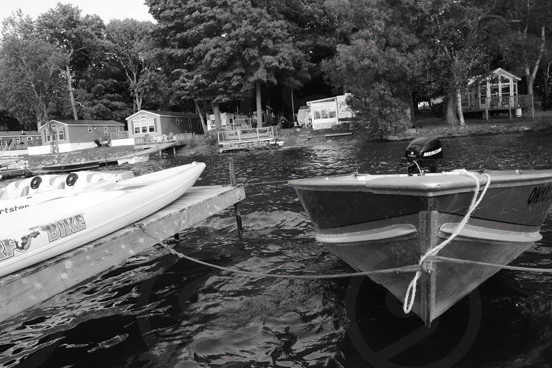 Black and white boat nautical adventure photo