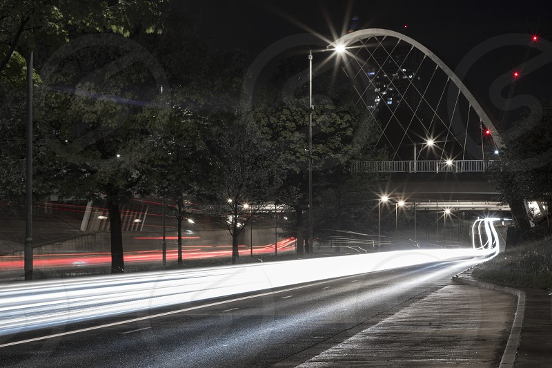Light trails in central Manchester. photo