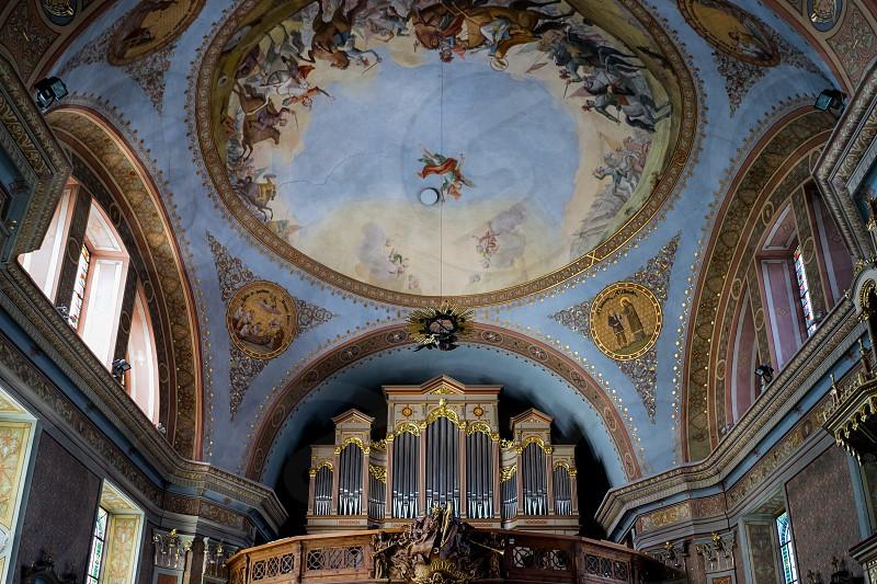 Interior View of the Parish Church in Ortisei photo