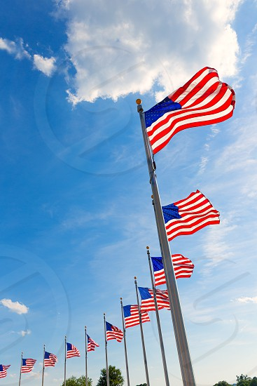 Washington Monument flags in District of Columbia DC USA photo