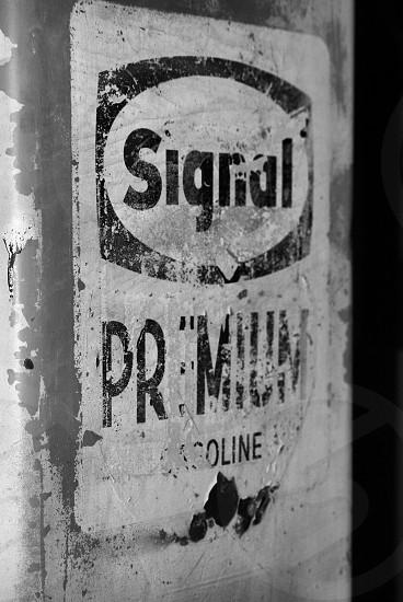 Vintage antique gas pump sign photo