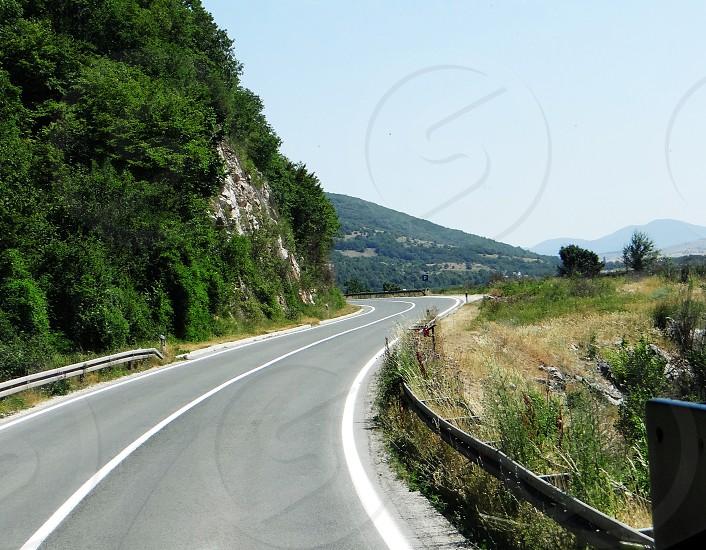 black rolled asphalt road photo