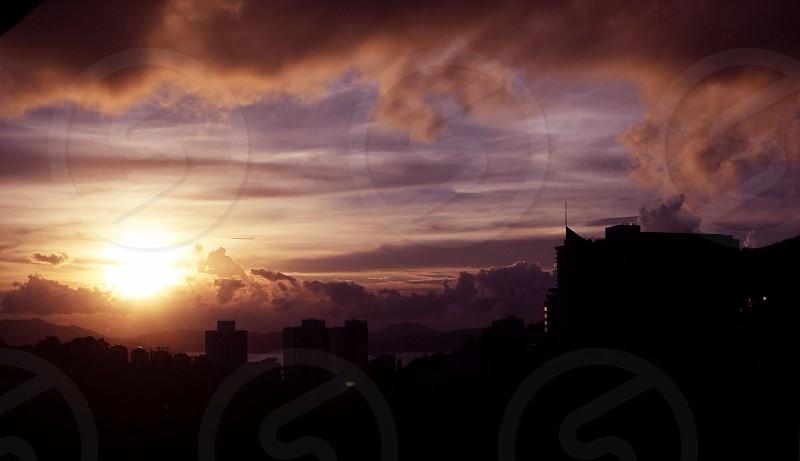 Sunset in Pokfulam Hong Kong photo