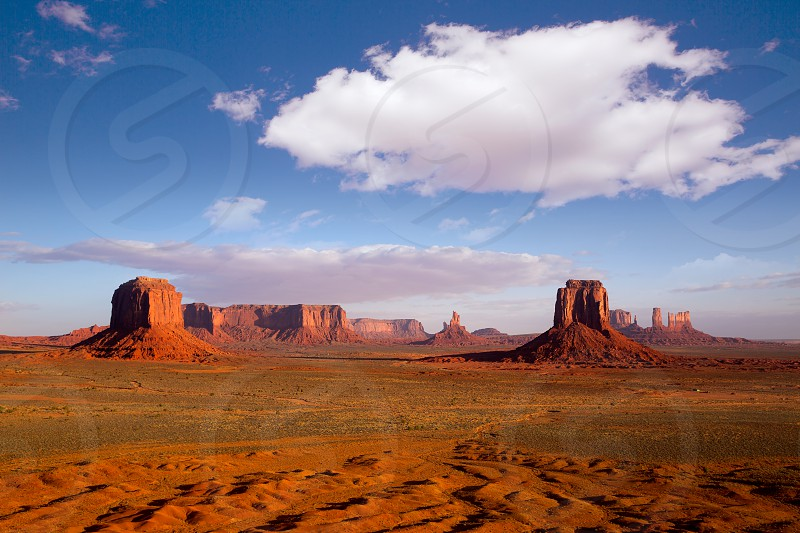 Monument Valley Mittens from Artist point of national Park Utah photo