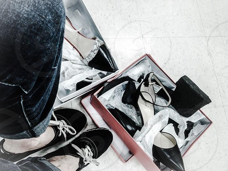 Shoe shopping photo