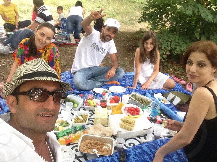 Armenian barbeque party photo