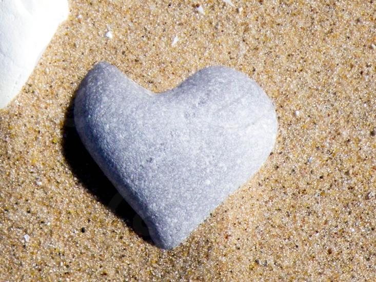 heart rock photo