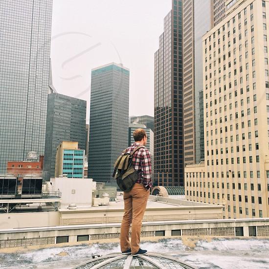 men's brown pants photo