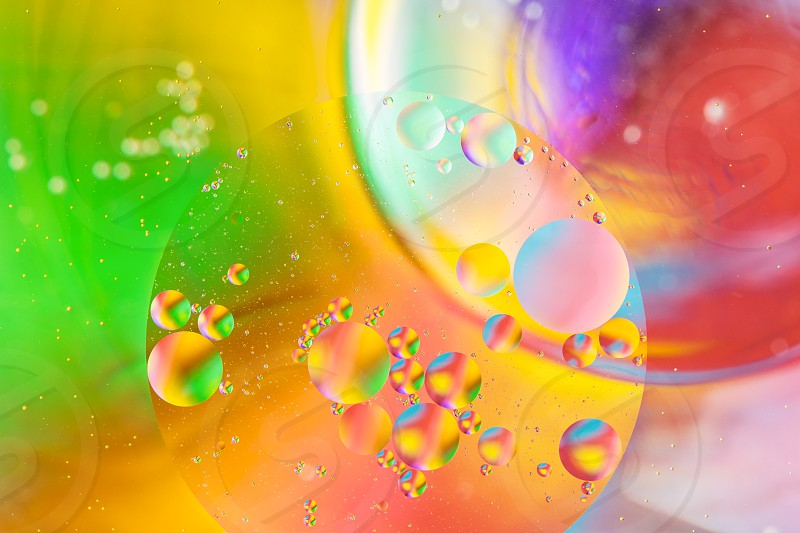 Abstract background in macro space style. Vibrant colors photo