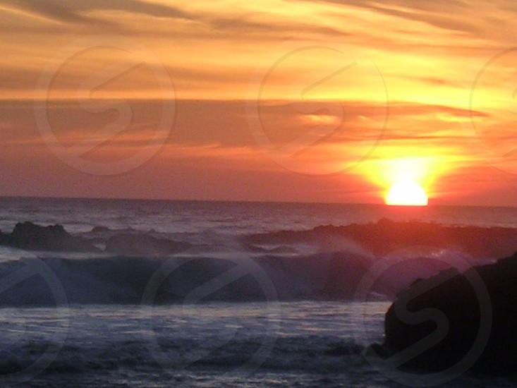 Sunset Malibu surf photo
