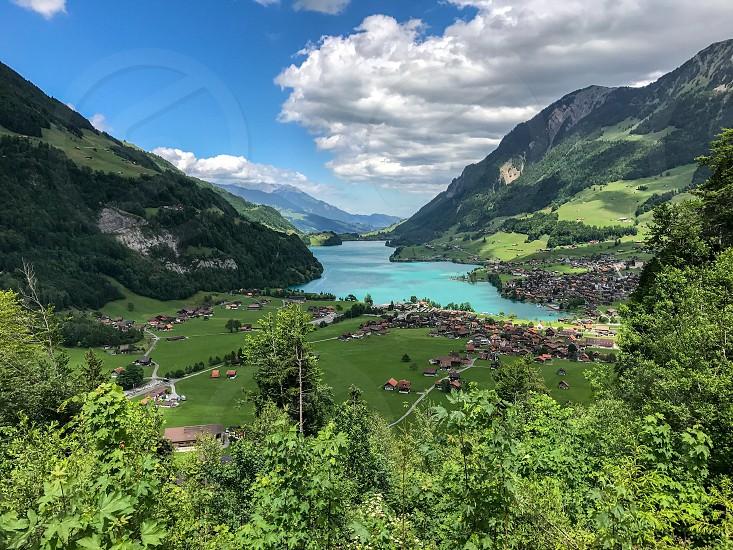 Switzerland mountains lake alps photo