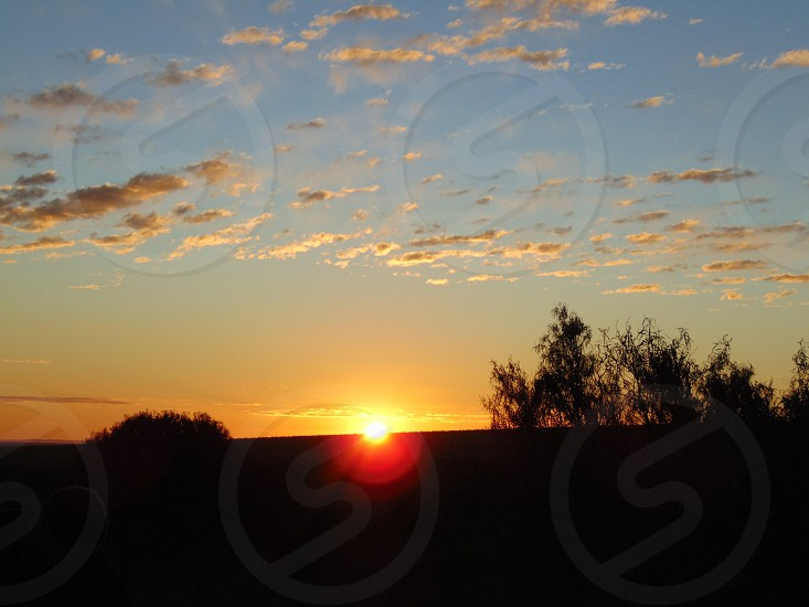 Sunset country nature clouds photo