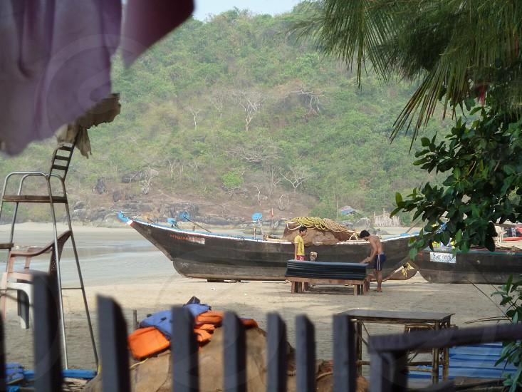 Goa beach Palolem boat photo