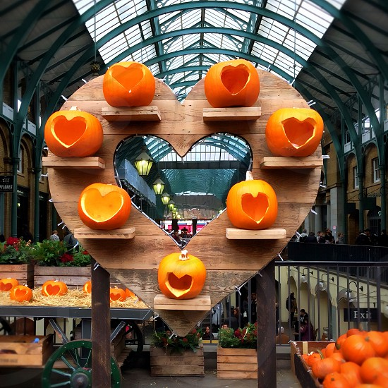 Pumpkins and hearts in London  photo