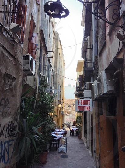 Old town chania Crete Greece  photo