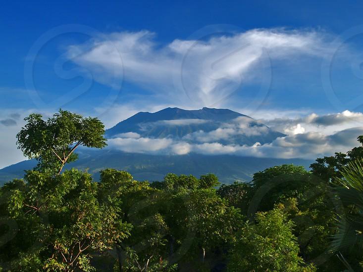 Mount Agung or Gunung Agung a volcano in Bali Indonesia photo